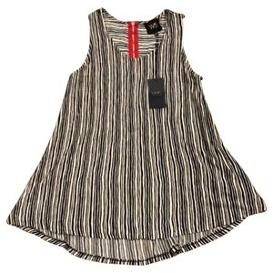 Anthropologie Black and White Stripped Tank